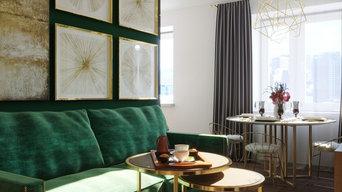 Дизайн проект 2-х комнатной квартиры для интересной девушки