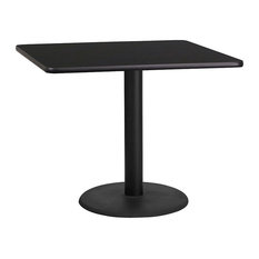Flash Furniture Black Laminate Table Top With 24 Round Height Base