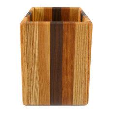 Mixed Hardwoods Utensil Holder, Single Size