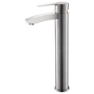 Fresca Livenza Single Hole Vessel Mount Bathroom Vanity Faucet - Brushed Nickel