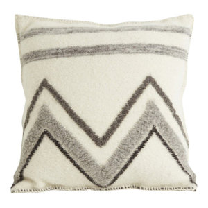 Handmade Square Four County Cushion by The Good Shepherd, Woven Chevron