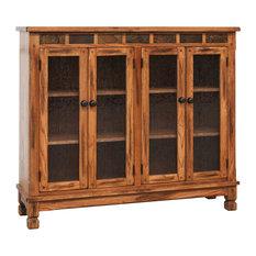 1st Avenue   Prescott Glass Door Sideboard, Rustic Oak   Buffets And  Sideboards