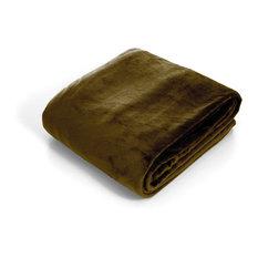 Super Soft Flannel Blanket, Twin, Brown