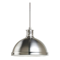 Sea Gull Lighting 2-Light Pendant, Brushed Nickel