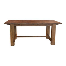 """A-America Anacortes 105"""" Trestle Table, With 2 18"""" Leaves"""
