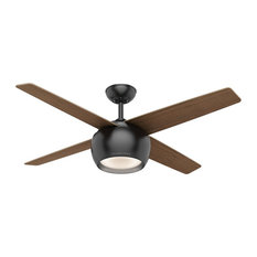 "Casablanca 54"" Valby Ceiling Fan with LED Light 59332 - Matte Black"