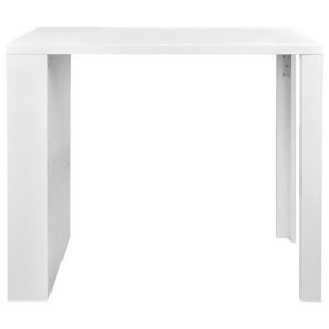 VidaXL High Gloss Bar Dining Table with 3 Racks, White