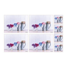 Hydrangea Collection Placemats and Coasters, Set of 4