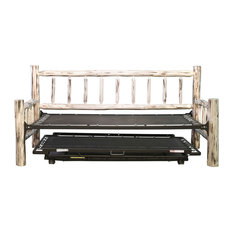 Montana Collection Day Bed With Pop Up Trundle Bed, Ready to Finish
