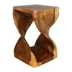 """Twist End Table 15""""x23"""", Walnut"""