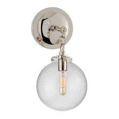 Katie Small Globe Sconce, Polished Nickel