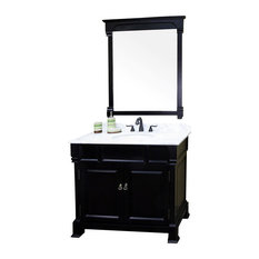 "Bellaterra 42"" Single Sink Vanity, Soid Wood, Espresso Finish"