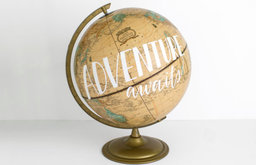 'Adventure Awaits' Painted World Globe by Wild & Free Designs