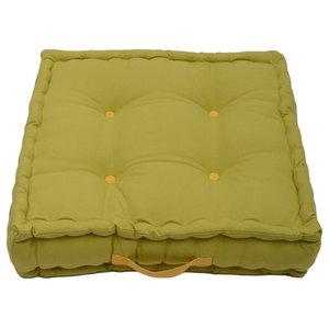 Jacky Plain Box Garden Cushion, Lime