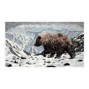 "Mosaic Animal Art, Bear In The Snowy Mountains, 41""x71"""