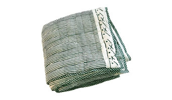 Proud Mary for Tilonia® King Quilt in Stripes in Teal, 108''x90'', Size