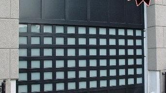 welded aluminum glass garage door