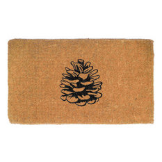 """Nature Lover Pine Cone Doormat Extra Thick Handwoven, Durable, 18""""x30"""""""