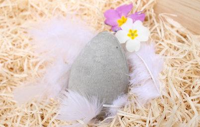 DIY : Fabriquez des œufs de Pâques maison « effet béton »