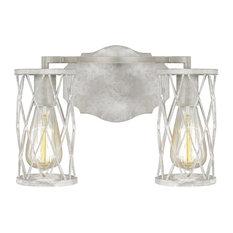 Feiss Cosette 2-Light Vanity VS2482FWO/DWW, French Washed Oak/White