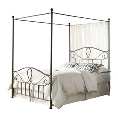 608843d4f236c Casa Furnish Store - Queen Size Complete Metal Canopy Bed With Scroll-Work  And Ball