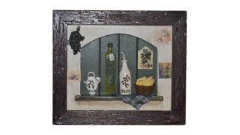 """""""Oil and Vinegar"""" Framed Collage, 34x28 cm"""