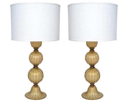 avventurina smoked opaline murano glass lamps table lamps