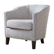 Fremont Barrel Arm Chair, Cream