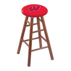 Oak Bar Stool Medium Finish With Wisconsin -inchW-inch Seat 30-inch