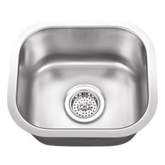 Stainless Steel 18-Gauge Single Bowl Bar Sink