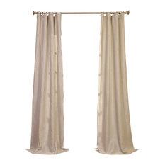 "Birch Linen Sheer Curtain Single Panel, 50""x84"""