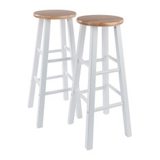 Element 2-PC Set Bar Stools 29-inch Natural/White Finish