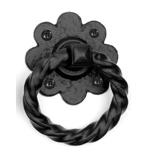 Floral Ring Handle, 4''