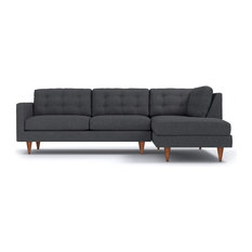 Apt2B - Logan 2-Piece Sectional Sofa, Smoke, Chaise on Right - Sectional Sofas