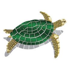 "Drop-In Turtle Vinyl Swimming Pool Mat (40"" x 30"")"