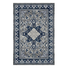 Traditional Gray & Blue Rug (7ft. 10in. X 9ft. 10in.) Artifact ART03B