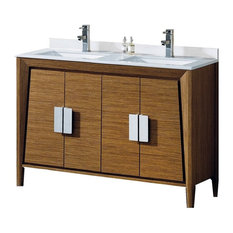 "Fine Fixtures Imperial II 60"" Collection, Wheat, Double Sink, Vantiy"