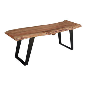 Timbergirl solid wood live edge Bench, 60""