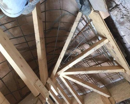 escalier 1 2 tournant b ton. Black Bedroom Furniture Sets. Home Design Ideas