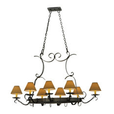 "54""L Laramie 8 Light Pot Rack"