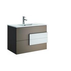"Modern Bathroom Vanity Model 7600  Moccha  and White Handle, 40"""