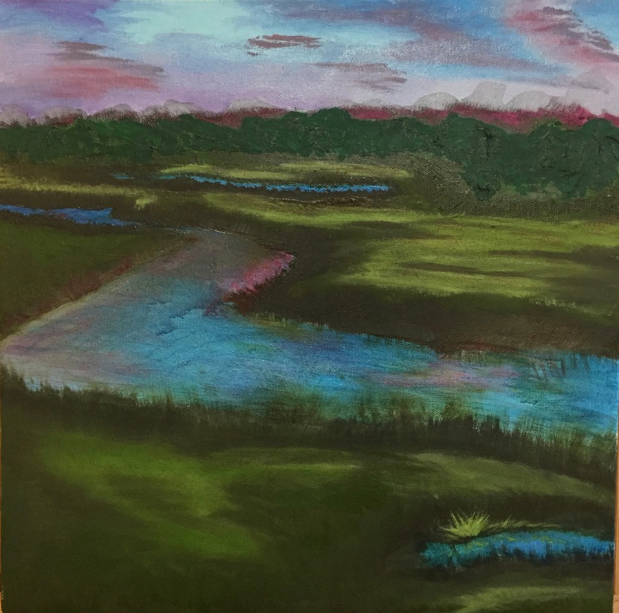 New Paintings - Landscapes in Oils-Massachusetts Marsh Lands