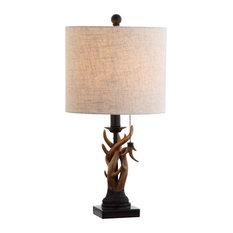 "Gaston 20.5"" Resin Mini Table Lamp, Brown"