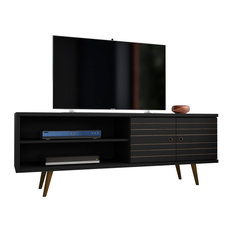 Manhattan Comfort Liberty TV Stand 62.99 In Black 201AMC8
