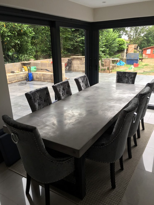 2.7 Metre Bespoke Polished Concrete Micro-Cement Dining Table - Products