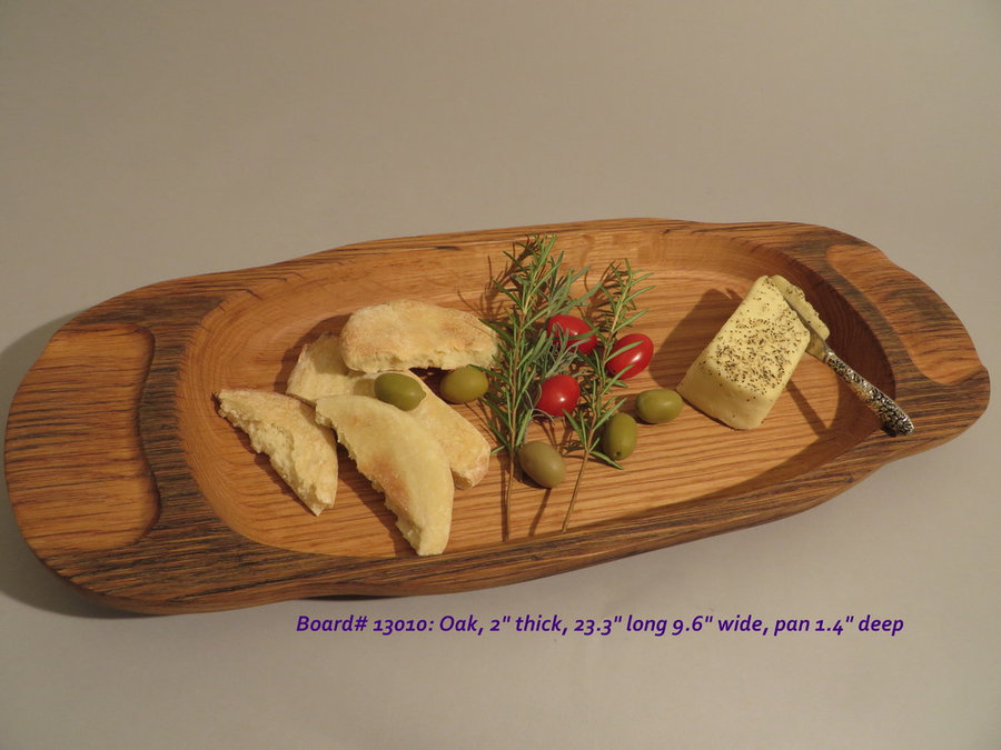 Hand-Carved Oak Serving & Cutting Board