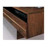Horizon 1-Door TV Bench, Walnut Legs
