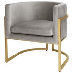 Ryer Velvet Chair Contemporary Armchairs And Accent