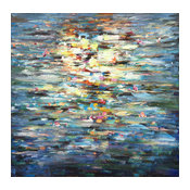 """""""Abstract Water Reflection"""" Oil Painting"""