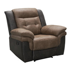 Thatcher Two-tone Fabric Recliner